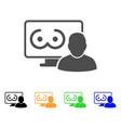 online erotics viewer user icon vector image vector image