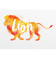 Painted animals lion vector image vector image