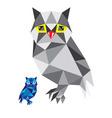 Polygonal Owl vector image
