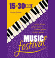 poster music festival concept bright vector image