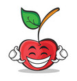 proud face cherry character cartoon style vector image vector image