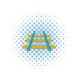 Railroad icon comics style vector image vector image