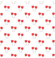 red mittens pattern vector image vector image