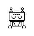 robot artificial assistant machine technology vector image