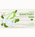 sanitary napkins package chamomile flower mock up vector image vector image