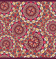 Seamless pattern of circular texture vector image