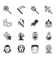 set halloween icons eps10 format vector image vector image