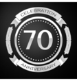 Seventy years anniversary celebration with silver vector image vector image
