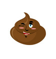 shit winks emoji turd happy emotion isolated vector image vector image