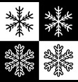 snowflake symbols icons simple black white set vector image