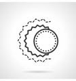 Solar eclipse abstract black line icon vector image