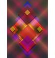 Squares on bright Iridescent dark background vector image