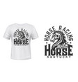 stallion horse t-shirt print mockup horse race vector image vector image