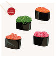 Sushi set Japanese food vector image