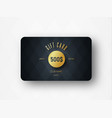 template of a premium gift card with a gold vector image