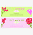 two gift vouchers for 100 and 300 dollars flat vector image