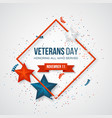 veterans day greeting card vector image