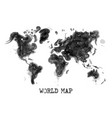 watercolor painting design of world map vector image vector image