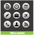 Web office circle pictogram symbols vector image vector image