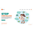 website hotline for victims cyberbullying vector image vector image