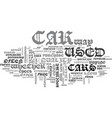 where to buy a used car text word cloud concept vector image vector image