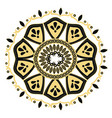 golden mandala decoration ornament oriental vector image