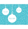 abstract underwater plants Christmas ornaments vector image