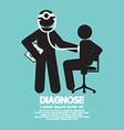 Doctor With Patient Diagnose Concept Black Symbol vector image