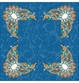 floral frame ethnic ukrainian ornament on paisley vector image