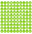 100 love icons set green circle vector image vector image