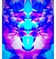 Abstract polygonal tiger vector image vector image