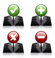 add delete professional user icons
