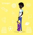 american boy skateboarder vector image vector image