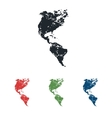 American continents grunge icon set vector image vector image