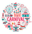 amusement park concept circus carnival vector image