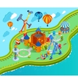 Amusement Park Isometric Cartoon Composition vector image vector image