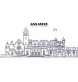 ann arbor united states outline travel skyline vector image vector image