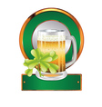 Beer and clover vector image