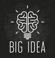 big idea concept chalkboard poster vector image