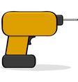 Cartoon drill vector image vector image