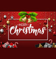 christmas decoration with elements vector image