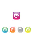 colorful c letter app vector image