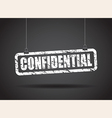 confidential white vector image vector image