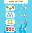 counting game for preschool children count vector image vector image