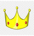 crown icon cartoon style vector image vector image