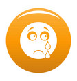 cry smile icon orange vector image