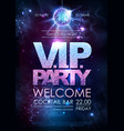 disco ball background disco vip party poster vector image vector image