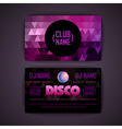 disco geometric triangle background vector image vector image