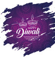 diwali candles decoration to light festival vector image vector image