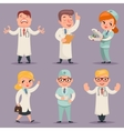 Doctor Different Positions and Actions Character vector image vector image